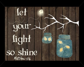 Light Shine Matthew 5:16 Shadow Box