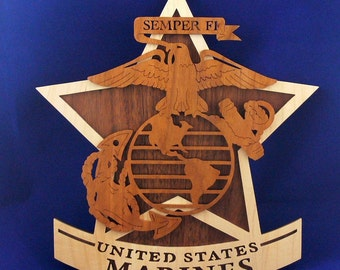 U. S. Marines Plaque