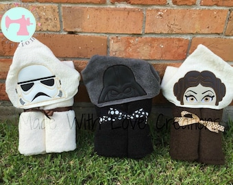 Star Friends Inspired Hooded Towels