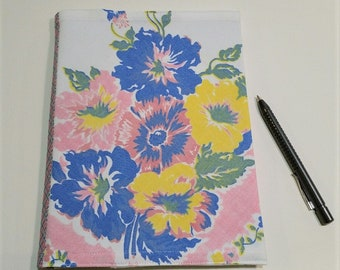 Vintage Tablecloth Composition Notebook Cover Reusable