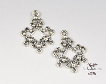 Sterling Silver Chandelier Earring Parts (2)