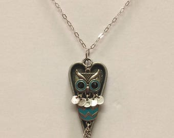Chevron Owl Heart