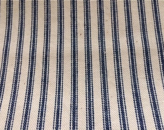 Vintage Indigo and Natural Pillow Ticking