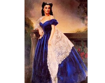 GWTW Pageant Scarlet O'Hara Gone with the Wind Blue Velvet Portrait Gown Dress National Halloween OOC custom 3/6m 9m 12m 18m 2 3 4 5 6 7 8 y