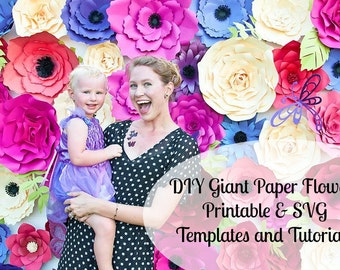 Giant Paper Flower Wall, Giant Flower Templates & Tutorials, Large Paper Flower Wall, Giant Paper Flower Backdrop