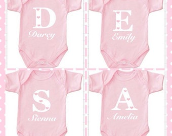 Any name Bodysuit girl  princess Personlised Name or design your own