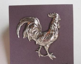 Coq coq broche - Antique argent ou Antique en or