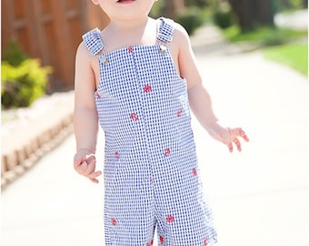 Jack and Jill Shortalls: Jon Jon PDF Pattern, Romper PDF Pattern, Overalls PDF Pattern, Baby, Toddler, Child