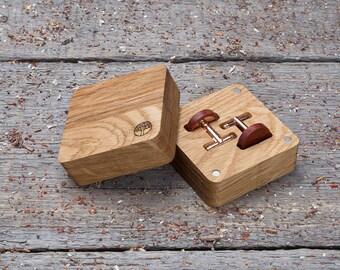 Round wooden cufflinks, gift wood box, Wood Cufflinks red Padauk wood cufflinks for men monogrammed engraving groomsmen set cufflinks 2-4-6