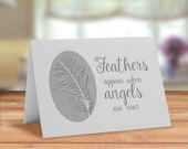 Feathers card, Feathers a...