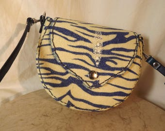 Stingray blue tiger print roo, cross body bag, hip bag, belt bag