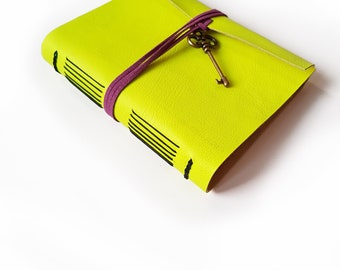 FREE SHIPPING | Hand-bound leather notebook