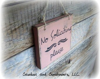 No soliciting door sign, Wood Sign, No solicitation, Wood Sign Decor, Wood Decor, Wood Block Decor, Front Door Sign, Do Not Disturb Sign