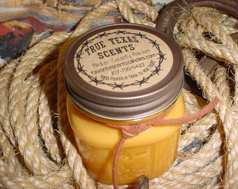 Parker County Peach Preserves Scent - 8 oz Western Cowboy Candle