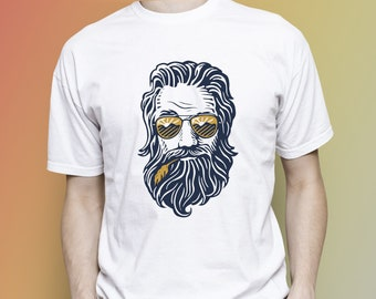 Hipster man with beard T-shirt, Hipster unisex T-shirt, Hipster people, Hipster man, Hipster woman, Hipster birthday,Unisex clothes clothing