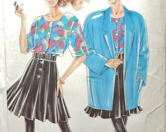 NEW LOOK 6927 Cut size 18 (8-18)  Misses Jacket, Top, Skirt...counted and complete