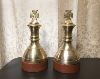 Attractive Heavy Cross Bookends Brass U0026 Leather