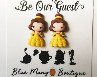 Disney Beauty and the Beast earrings |Disney jewelry Belle earrings | Disney jewellery | Disney earrings | Disney Christmas Gift