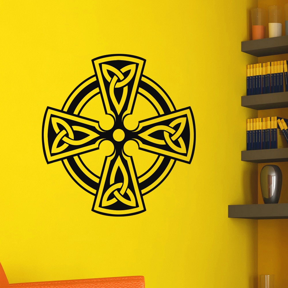 Celtic Cross Wall Decals Vinyl Stickers Antique Celtic Cross