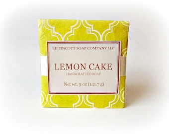 Lemon Cake Soap, Cold Process Soap, Handmade Soap, Bar Soap, Phthalate Free, Citrus Soap, Bakery Scent Soap, Gift for Her, Mother's Day Gift
