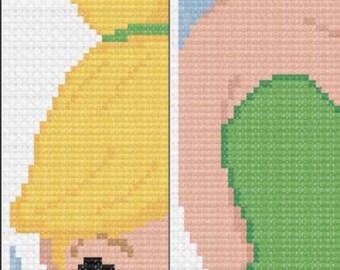Peter Pan- Tinkerbell- Disney Cross Stitch Bookmark Pattern
