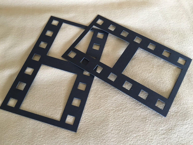Black DIY Film Strip XL Frames-Blank Chipboard Filmstrip Shapes for ...