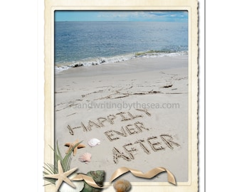 Seaside Happily Ever After print