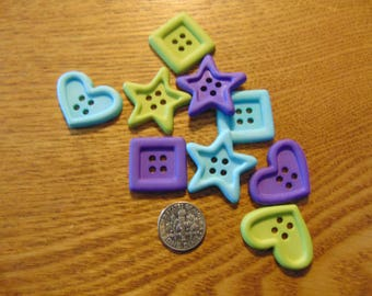 Large multi-shaped Buttons