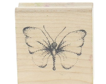 Close to My Heart Stipple Butterfly Wooden Rubber Stamp