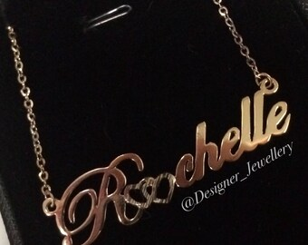 """Personalized """"Rochelle"""" style name necklace"""