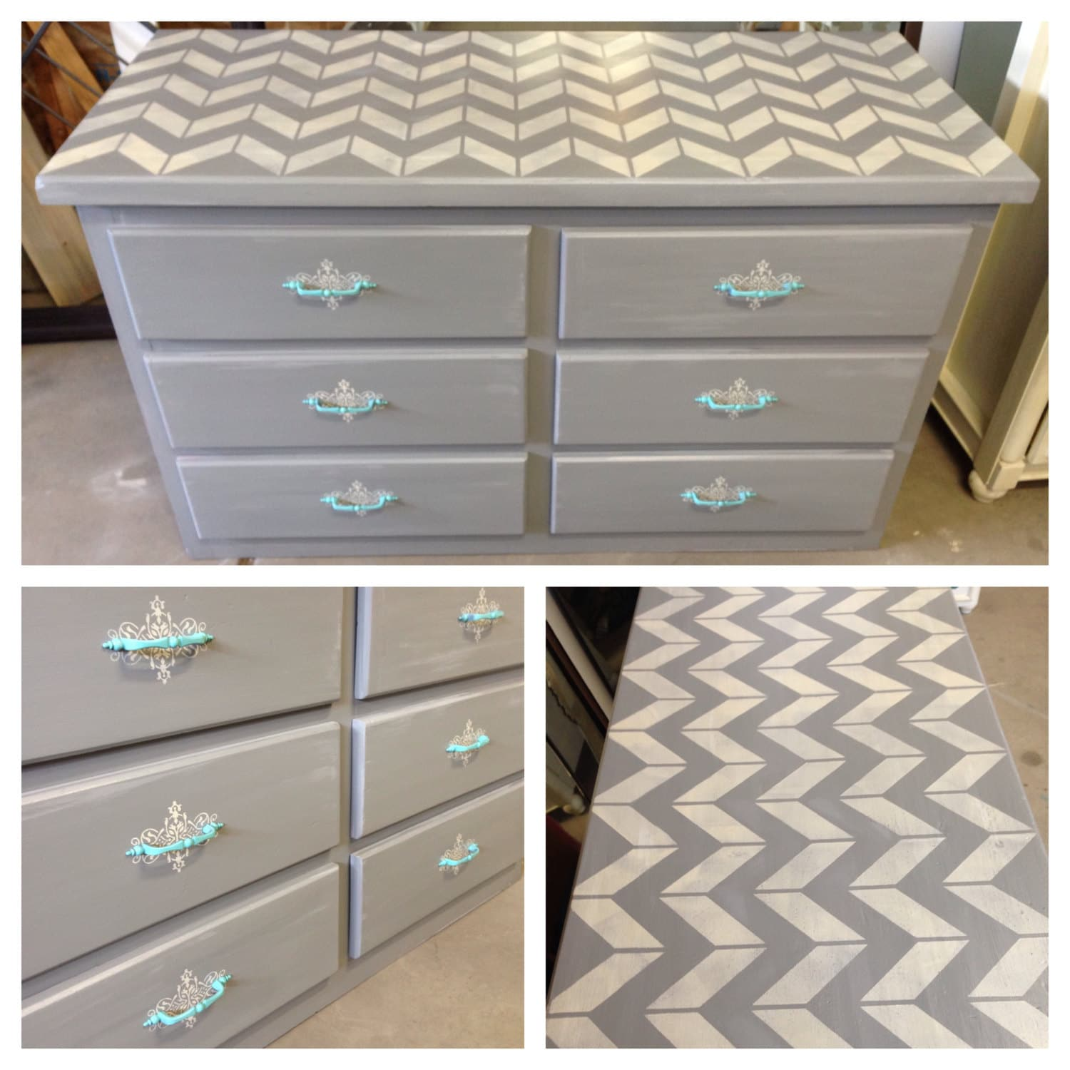 Chevron Collection bedroom furniture painted furniture