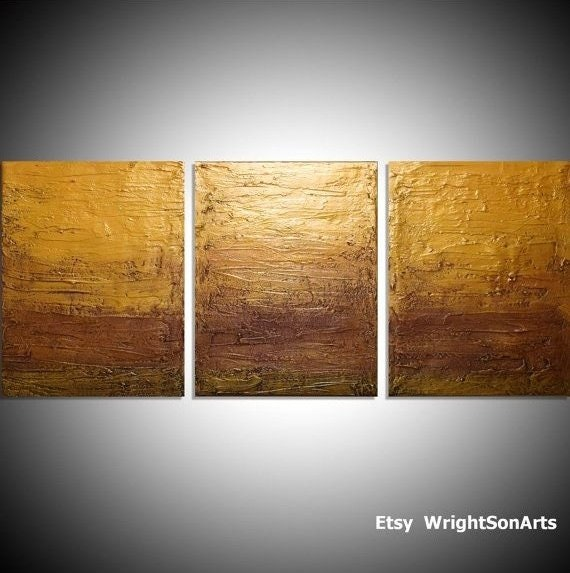 LARGE affordable WALL ART triptych 3 panel wall contemporary