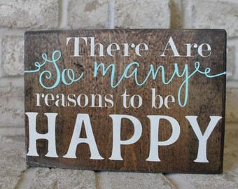 Inspirational Home Decor, Happy Sign, Wood Decor, Distressed Wood Sign, Home Decor Rustic, Wooden Sign Inspiration Quote, Reclaimed Wood