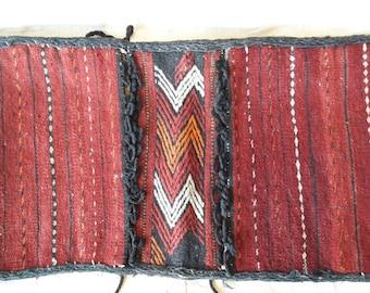 small, hand woven saddlebag