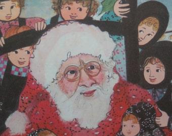 "P. Buckley Moss ""Santa's Friends"" Signed LTD Edition Print ~ Christmas ~ Holiday Decor ~ Santa Claus, Saint Nicholas, Father Christmas"