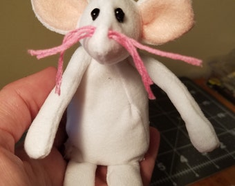 Handmade Mouse with poseable arms and tail