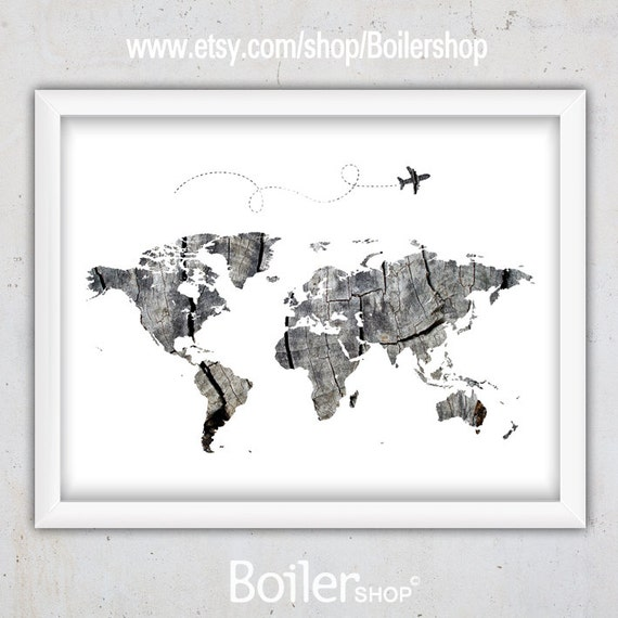 World map print world map download poster printable map instant download gumiabroncs Choice Image