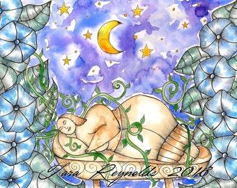 Pagan Art Print Moon Art Pagan Altar Fertility Goddess Art Divine Sacred Feminine Goddess Whimsical Art Spiritual Altar Art Wicca Priestess