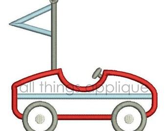 Race Car Applique Design - 4 Sizes - INSTANT DOWNLOAD