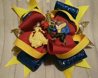 "Beauty & The Beast ""Inspired"" Hair Bow"