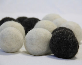 100 % wool dryer balls - set of 4 -natural un-dyed