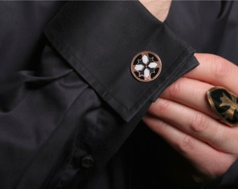 cufflinks, copper cufflinks, cufflinks for groom, cuff links, men's cufflinks, wedding anniversary, unique cufflinks, cufflink shirts