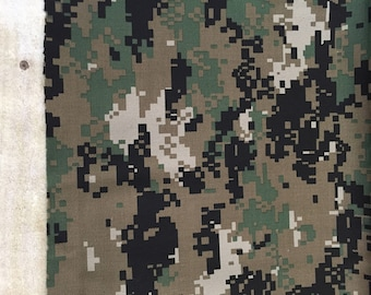 "Digital Camouflage Fabric Material 60"" Wide  1/2 Yard"