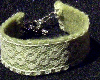 50 PERCENT OFF Green Lace Bracelet
