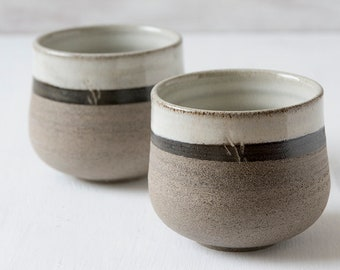 Ceramic Chai Cups, Set of 2 Cups, Handmade Pottery Teaware, Small Cups, Pottery Cups, New Home Gift, Gift for Hostess