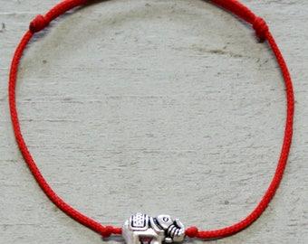 Elephant Bracelet Elephant Jewelry Charm Bracelet Friendship Bracelet Yoga Bracelet Elephant Jewellery Wish Bracelet Lucky Elephant