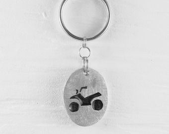 ATV Keychains :. Aluminum - Quand - VTT - Forest - Motorbike - Accessory - Decoration