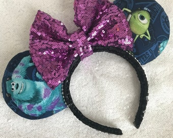 Monsters INC. Sulley & Mike Inspired Minnie / Mickey Mouse Ears
