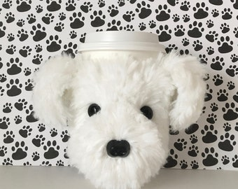Bichon Frise Gifts, Fur Mama, Bichon Dog Mug Cozy, Bichon Frise Items, Dog Mommy, Dog Groomer Gifts, Mug Warmer, Gifts for Dog Mom, Fur Baby