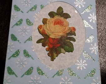 Victorian Rose Handmade Greeting Card